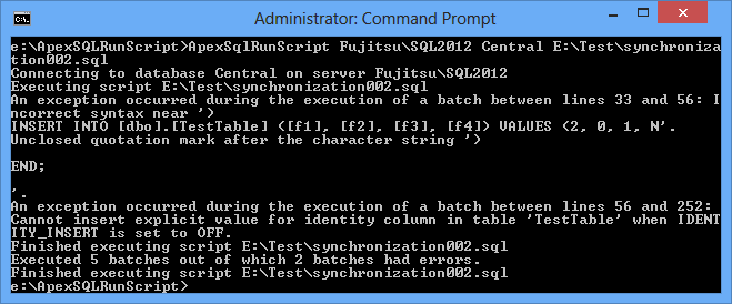 Command Prompt notice