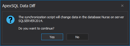 SQL Server database change notification dialogue