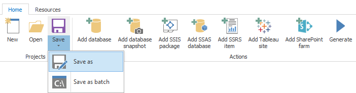 Integration services tab