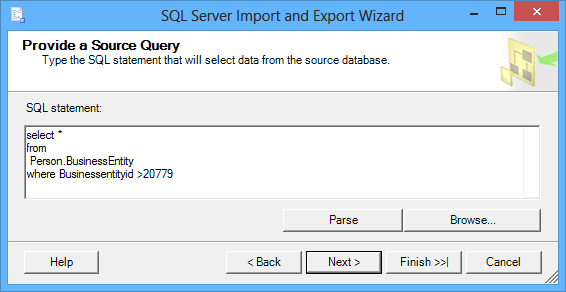 Provide a source query