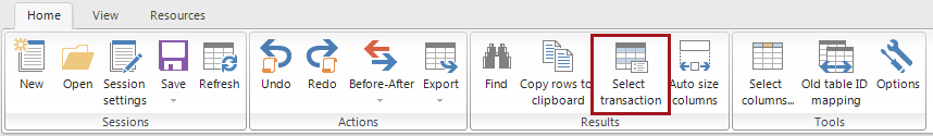 Select all rows in this transaction option