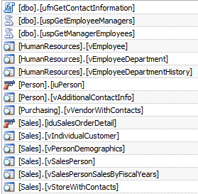 Dialog showing Referencing entities for the Person table