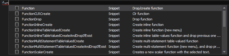 Snippets from the hint-list
