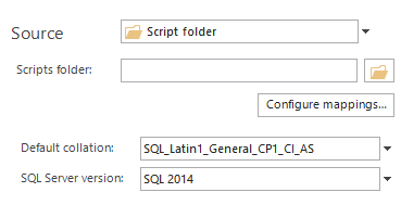 Save a SQL database schema directly from your database backup