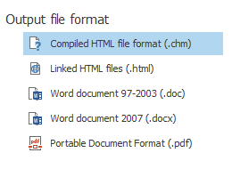 Output file format
