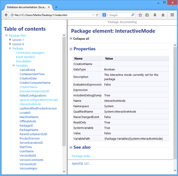 Package element:InteractiveMode