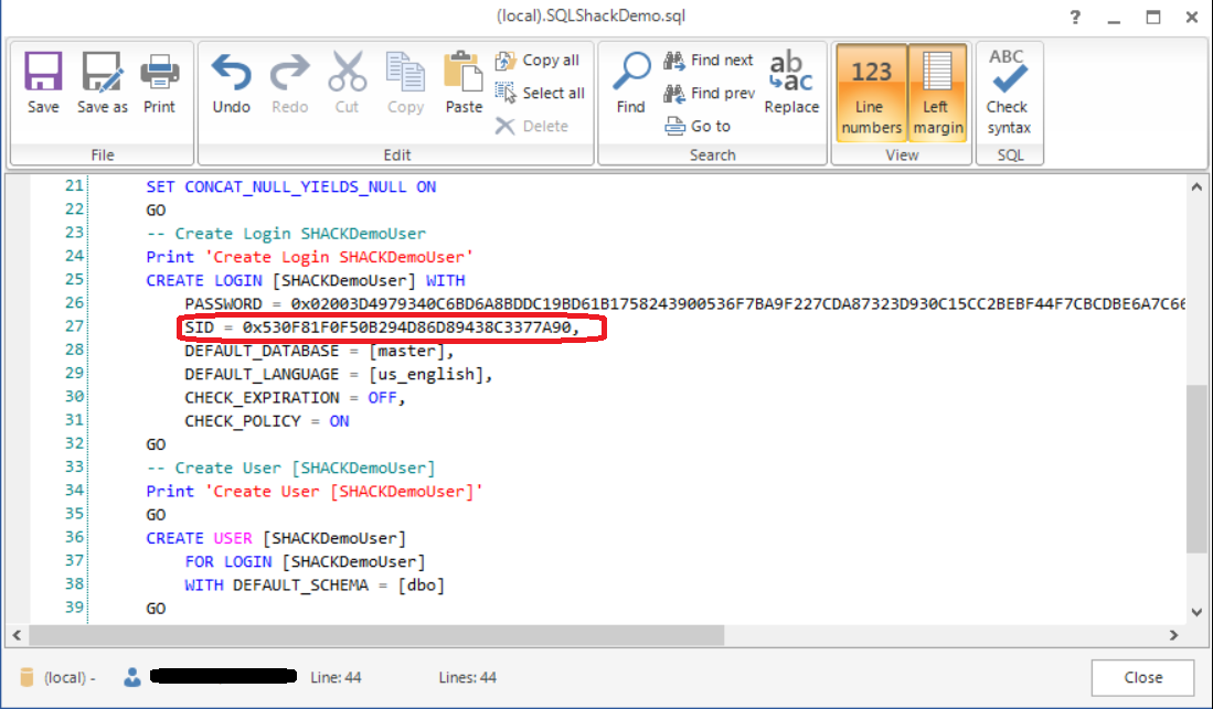 How to script SQL Server logins and permissions