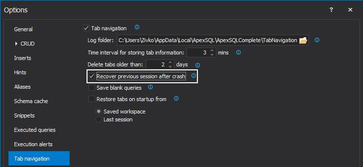 Retrieve unsaved SQL query scripts due to SQL Server