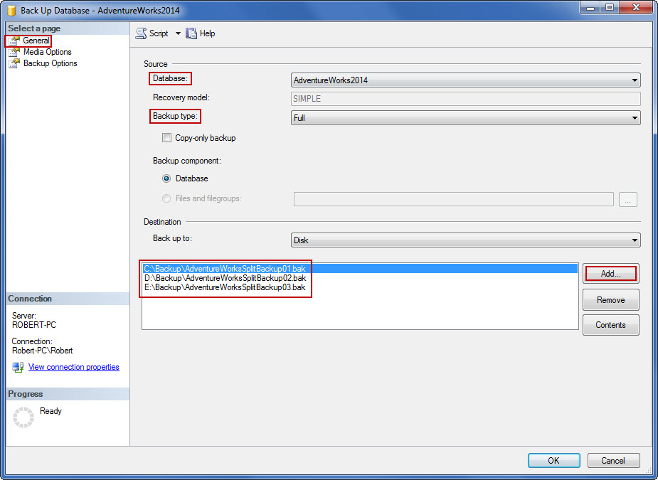 how to take differential backup in sql server