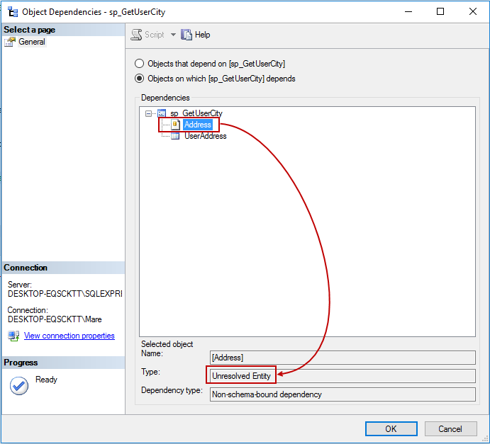 Viewing Object Dependencies In SQL Server