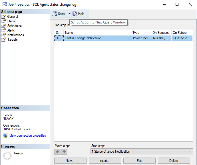 how to change job schedule time in sql server