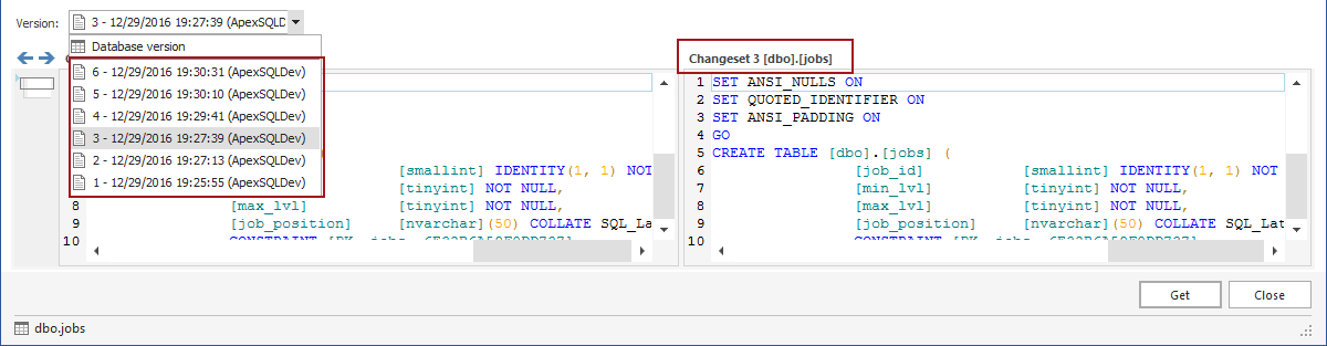 How to see the full history of a SQL Server database object