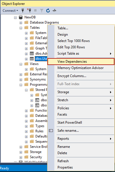 Two ways to rename SQL Server database objects