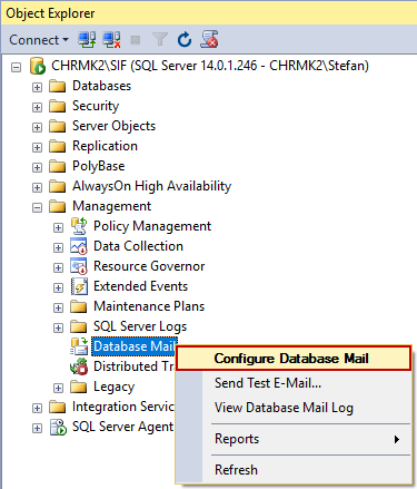 How to set up email notifications for backup jobs in SQL Server