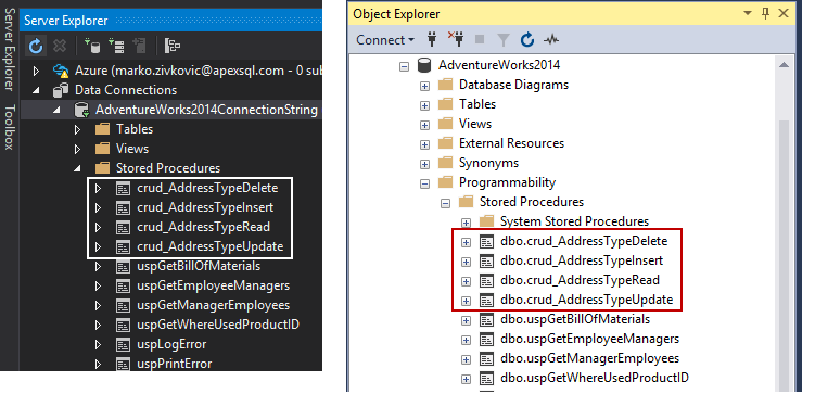 How to create and use CRUD stored procedures in SQL Server