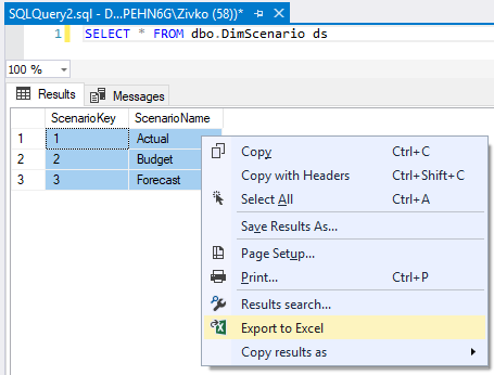 How to Import and Export SQL Server data to an Excel file