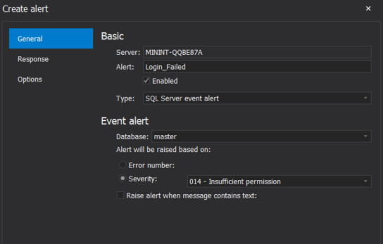 Insufficient permission SQL Agent alert
