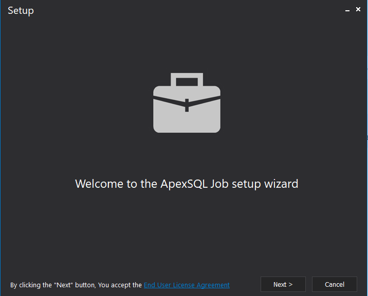 Installation Wizard for ApexSQL Job