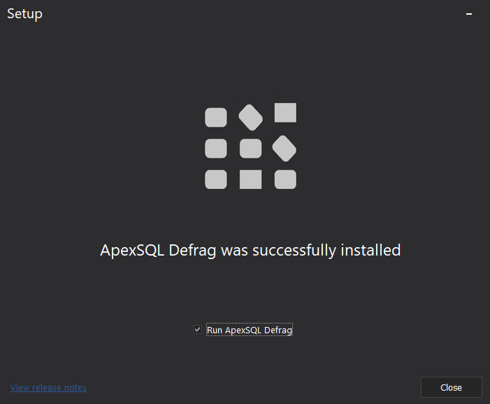 ApexSQl Defrag Installation Wizard_Completed