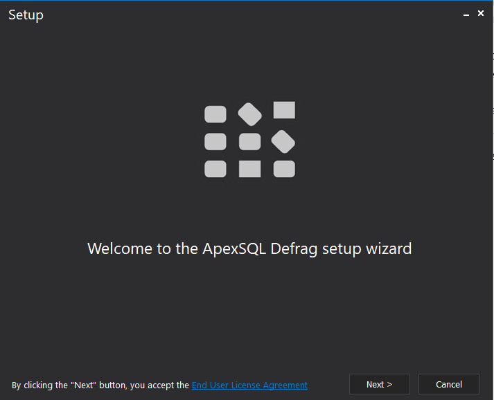 ApexSQl Defrag Installation Wizard_Welcome