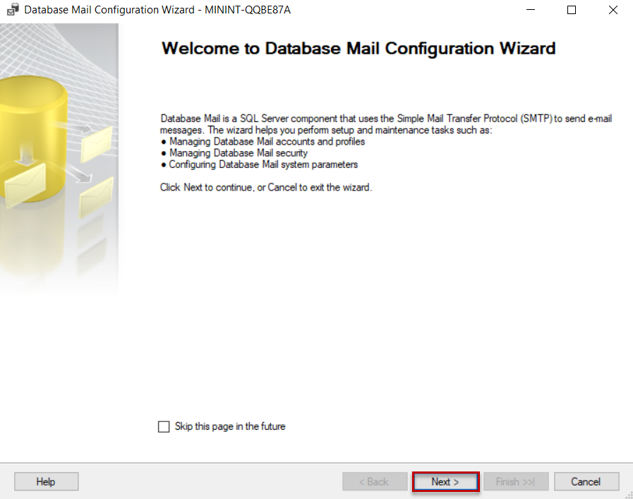 Configure Database Mail_Welcome