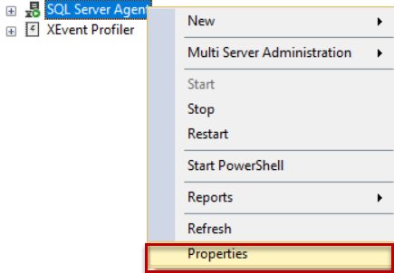 Configure SQL Agent to use DB Mail SSMS