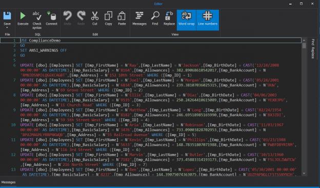 ApexSQL Mask - Script File
