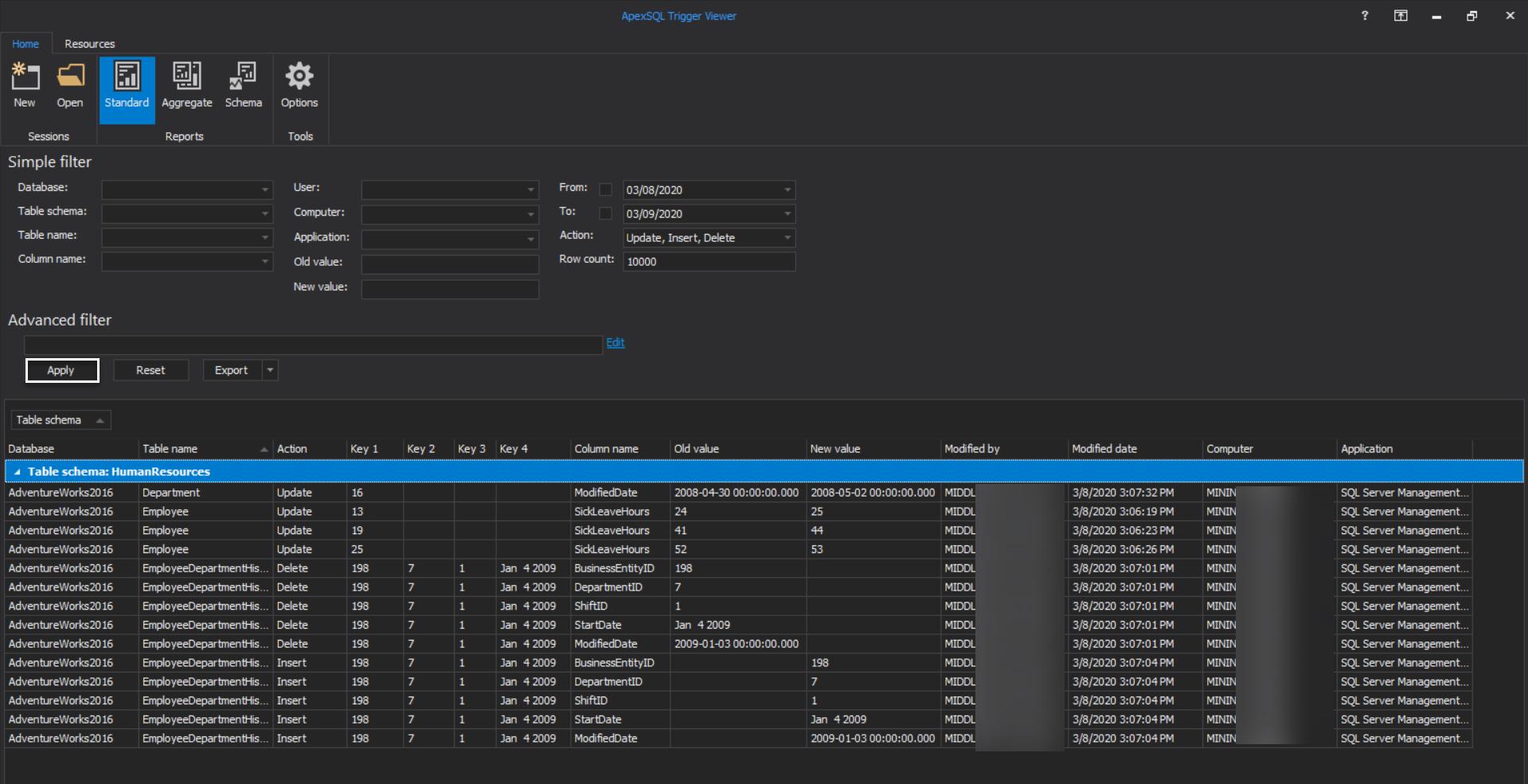 ApexSQL Trigger Viewer - Standard