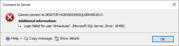 Login failed for user message when generated SQL login script is run on the destination SQL Server instance in case of SQL-authenticated SQL login