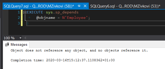 "The ""Object does not reference any object, and no objects reference it."" message"