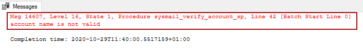 Database mail is not activated