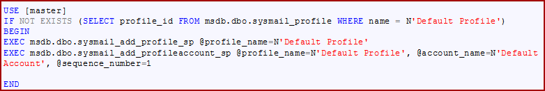 SQL script for creating database mail profiles
