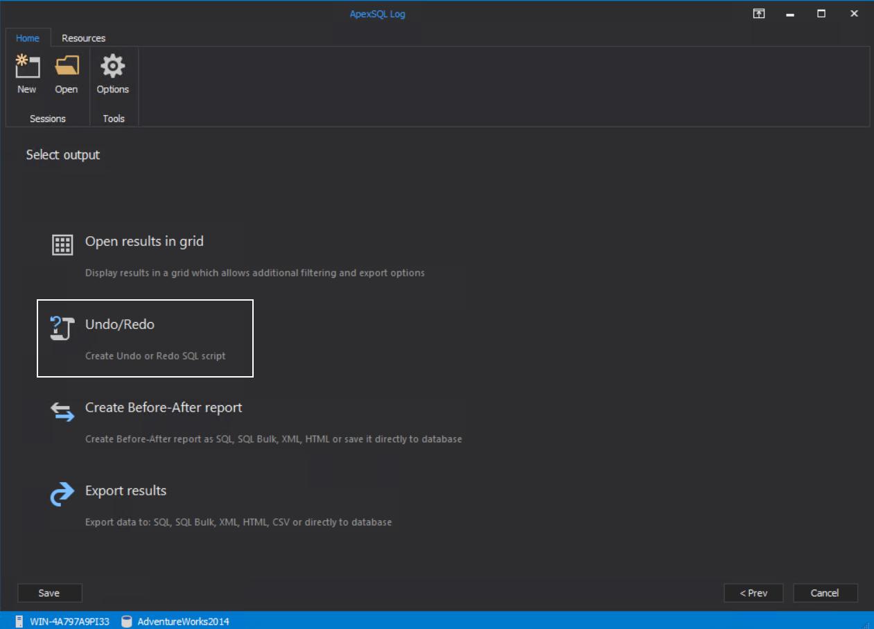 Undo/Redo script creation from SQL Server transaction log